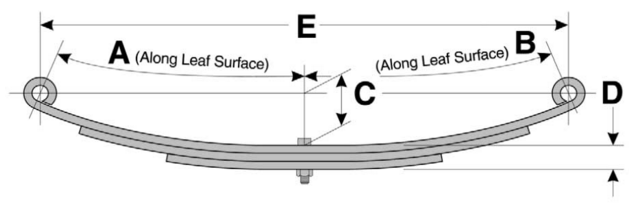Leaf Spring diagram and dimensions